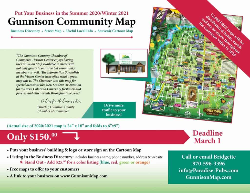 Gunnison Map Spec Sheet